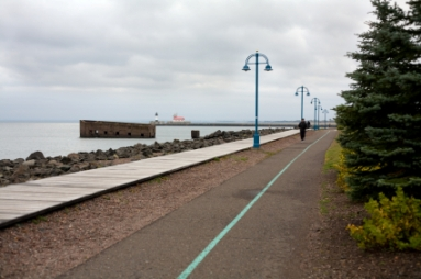 Portion of the Duluth Lakewalk in Duluth, MN