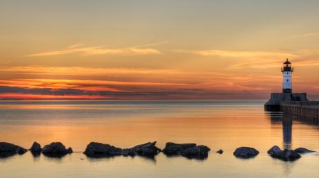 Duluth MN travel - Canal Park sunrise